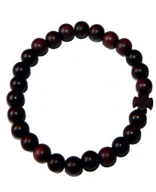 25 Bead Prayer Rope (Tiger Ebony Wood)