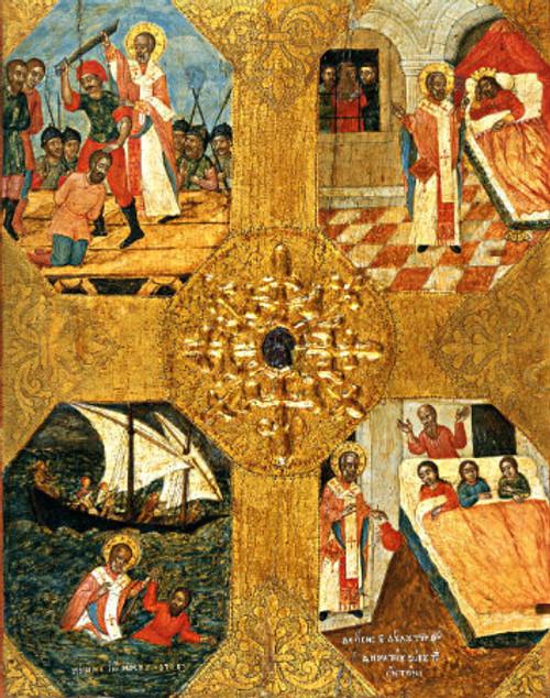 St. Nicholas Icon with Scenes Icon