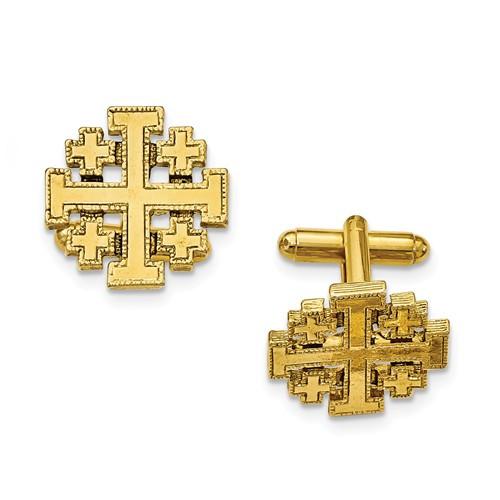 Jerusalem Cross Cufflink Set