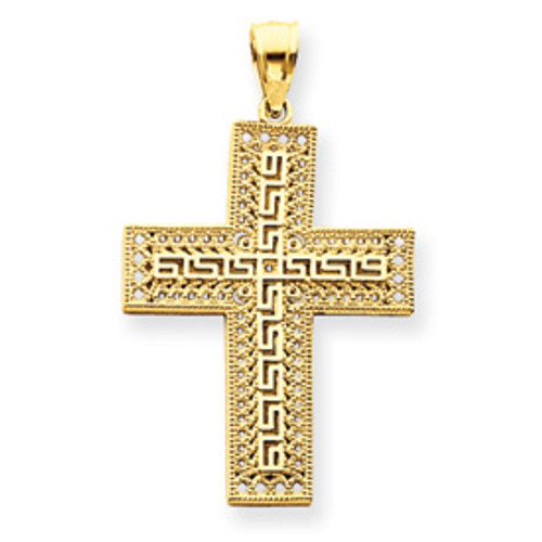 14KT Greek Accent Cross