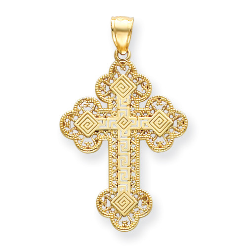 14KT Greek Filigree Byzantine Cross