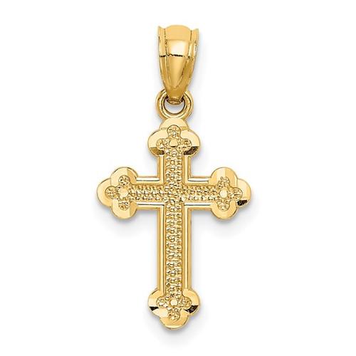 "14KT Byzantine Cross- Small- 5/8"""