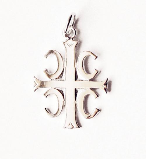 4Cs Serbian Style Cross- Sterling Silver