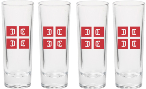 4Cs Serbian Shooter Glass- Set of 4