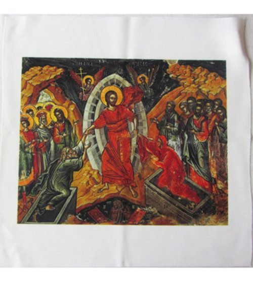 Resurrection of Christ Icon Pascha Basket Cover- ON SALE!