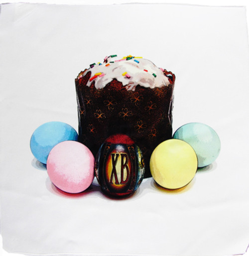 Kulich Scene Pascha Basket Cover- ON SALE@