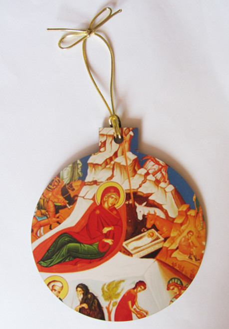 Nativity Icon Acrylic Christmas Ornament