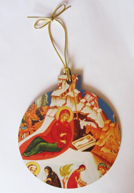 Nativity Icon Acrylic Christmas Ornament