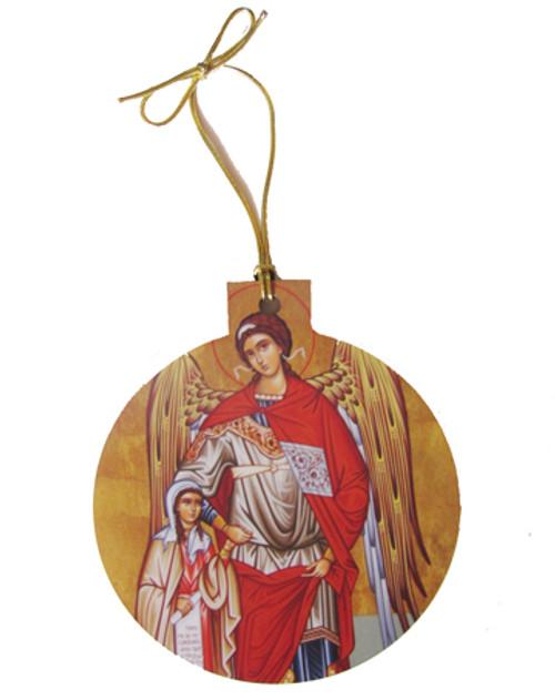 Guardian Angel w/Girl Icon Acrylic Christmas Ornament