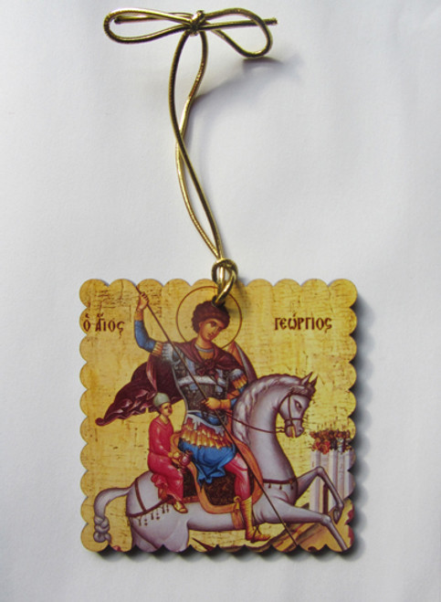 St. George the Greatmartyr Square Acrylic Christmas Ornament