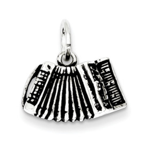 Sterling Silver Accordion Pendant