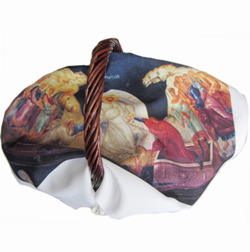 Resurrection of Christ Icon (Style II) Pascha Basket Cover- ON SALE