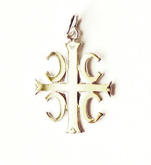 10KT 4Cs Serbian Style Cross- Small
