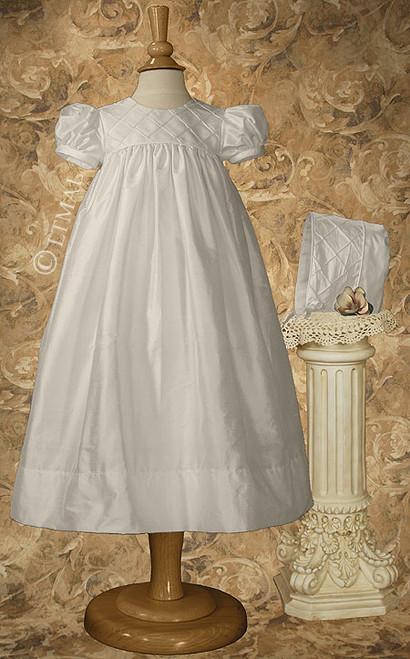 "26"" Silk Dupioni Baptismal Dress"