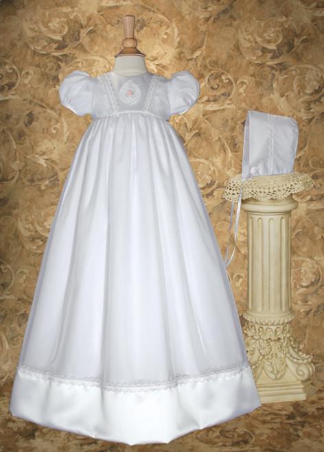 "32"" Organza & Satin Baptismal Gown"