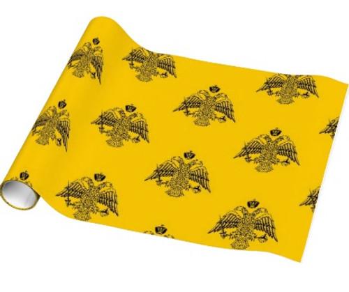 Premium Gift Wrap Paper: Byzantine Eagle