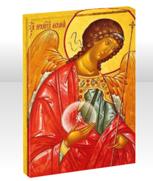 """St. Archangel Michael 11 x 14"""" Mounted Canvas (1 1/2"""" Thick)"""