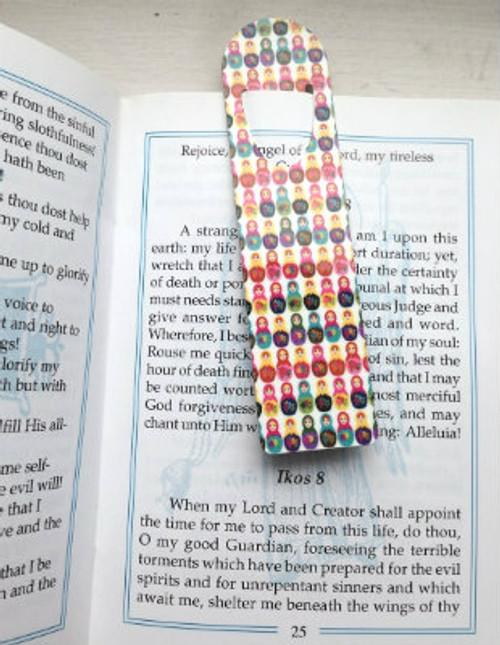 Printed Metallic Bookmark: Matryoshka Design