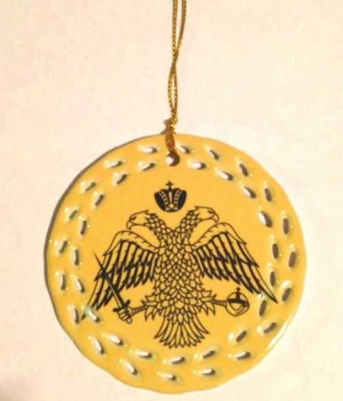 Byzantine Eagle Ceramic Cut-Out Border Ornament