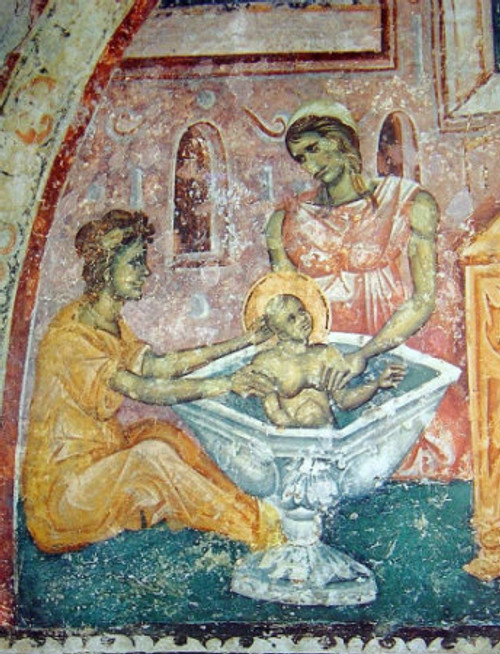Doulas Bathing the Christ-Child Icon