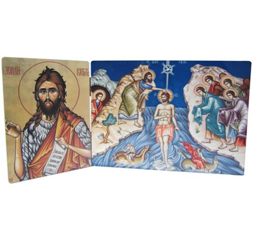 Pick-Your-Saint Baptismal Diptych