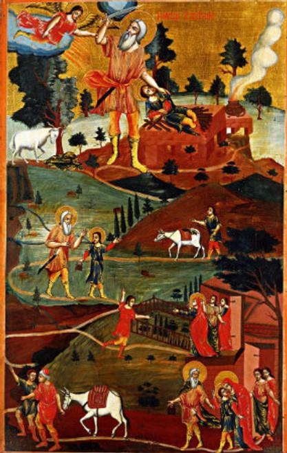 Prophet Abraham with Scenes Icon