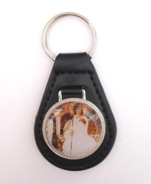 Beli Andjeo (White Angel) Leather Keychain