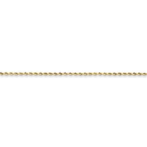 10KT 1.75MM Diamond-Cut Rope Chain- Various Lengths