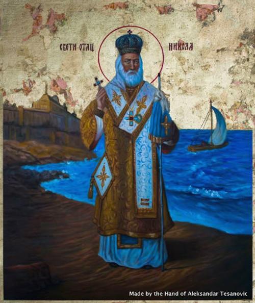 *Handpainted Icon: St. Nicholas