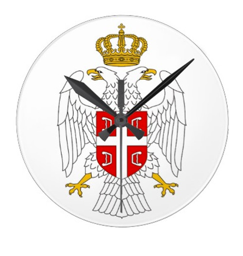 Serbian Double Eagle Wall Clock