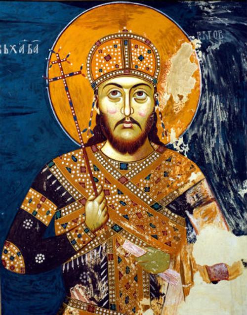 St. Tsar Dusan Icon