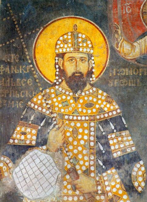 St. King Milutin Icon- Icon II