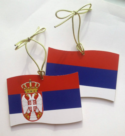 Serbian Flag Ornament- Dual Sided