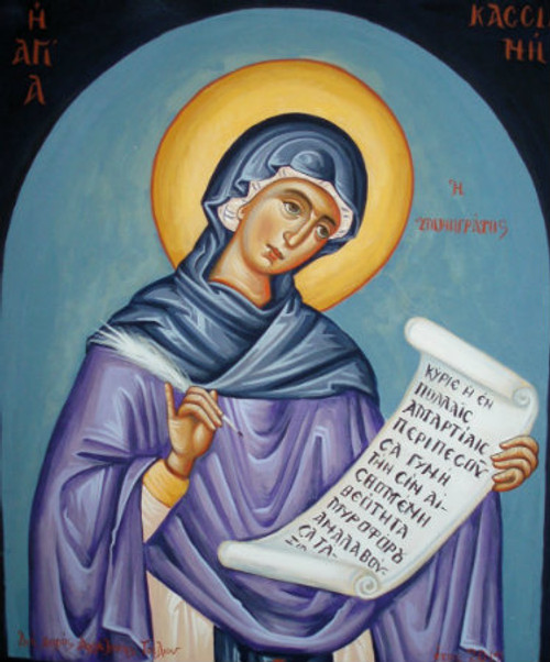 St. Kassiani the Hymnographer Icon- Icon II
