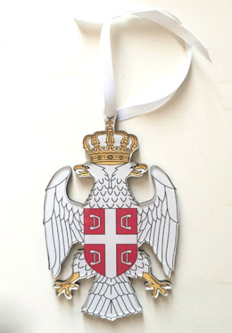 Serbian Double Eagle Grb Acrylic Die-Cut Ornament