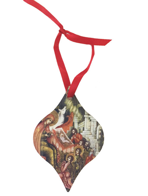 Greeting of the Magi Metal Icon Ornament (Double-Sided)