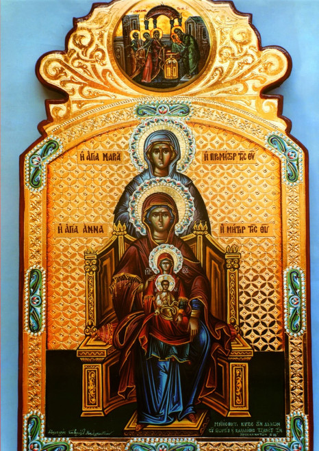 Maternal Lineage of Christ Icon