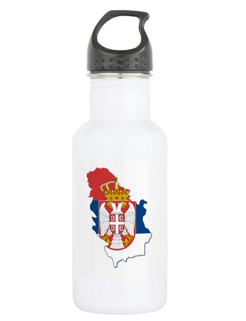 Kosovo is Serbia Flag Water Bottle
