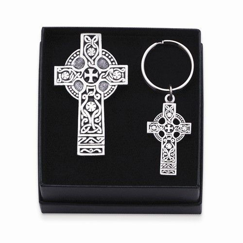 Celtic Cross Visor Clip and Key Chain Set