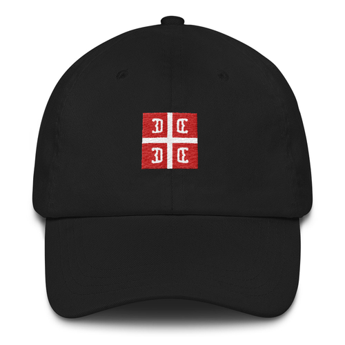 Embroidered Serbian 4C's Flag Baseball Cap