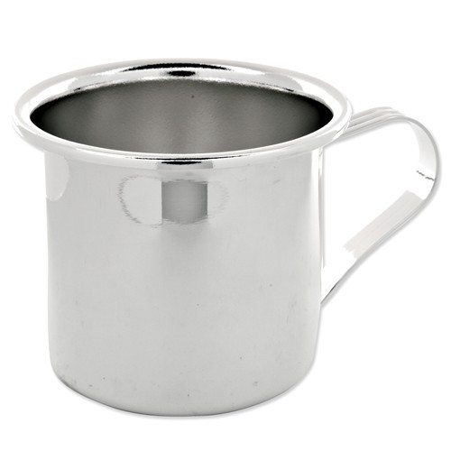 Engravable Silver-plated Polished Baby Cup