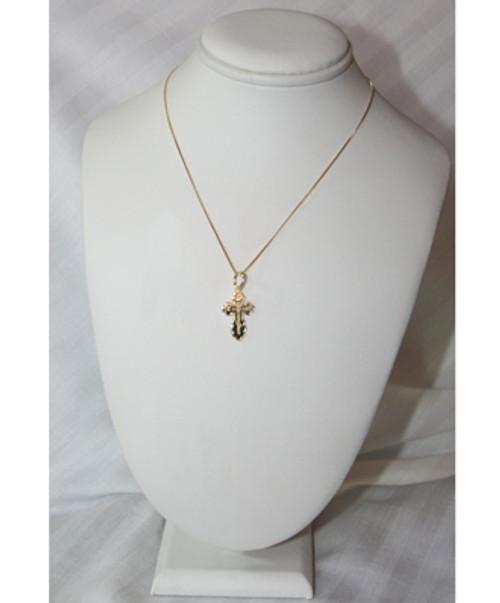 14KYG St. Olga Style Cross- Small