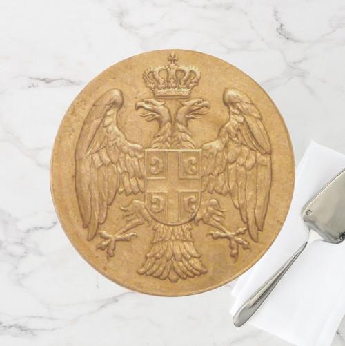 Serbian Grb Porcelain Cake Stand