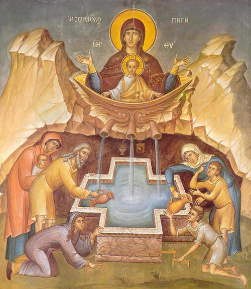Theotokos of the Life-Giving Spring Icon