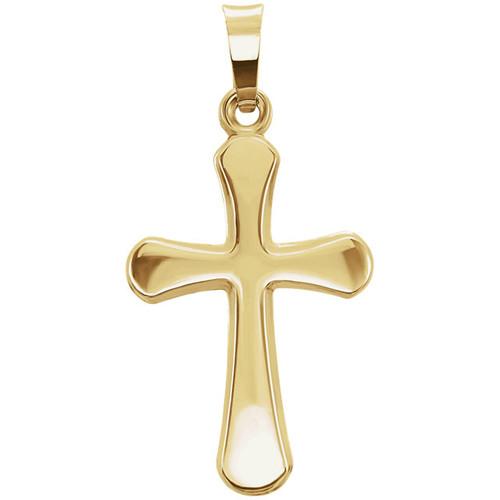 14KT Simply Elegant Yellow Cross