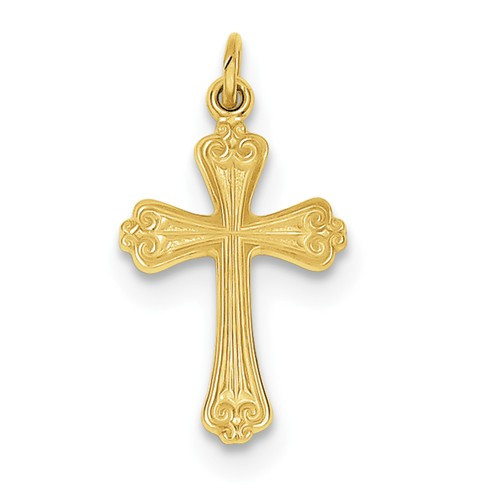 """Sterling Silver and 24K Gold-plated Cross - 1"""""""