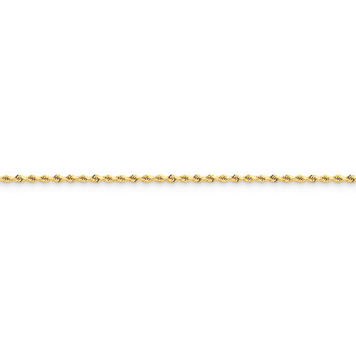 14KT 1.5mm Diamond Cut Rope Chain- Various Lengths