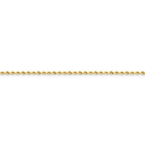 14KT 1.5mm Diamond Cut Rope Chain- Various Lengths