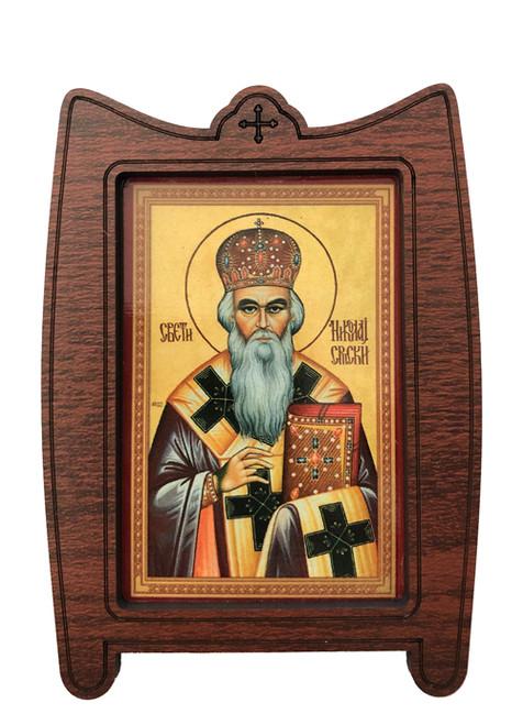 Framed Magnet: St. Nikolaj Srpski (Velimirovic)