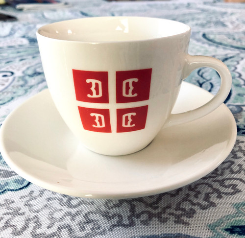 Serbian 4C's Cappuccino Mug & Saucer: Set of 4